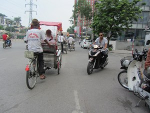 Pedicab Ride in Hanoi