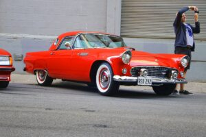 Ford Thunderbird (Red) (1) (Car Photographs – Events)